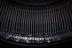 Винтажная кириллическая машинка Стоковые Изображения RF