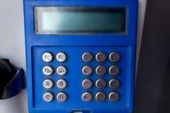 Винтажная кнопочная панель общественного телефона Стоковая Фотография RF