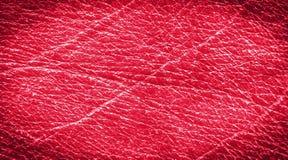 Винтажная кожа в красном цвете Стоковая Фотография RF