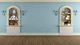 Винтажная комната с сдобренной нишей Стоковое Изображение RF