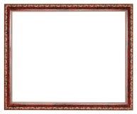 Винтажная коричневая украшенная деревянная картинная рамка Стоковая Фотография