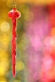 Винтажная красная игрушка сосульки Стоковое Изображение RF