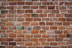 Винтажная красная предпосылка кирпичной стены, кирпичная стена для текстуры предпосылки Стоковые Изображения RF