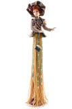 Винтажная кукла в шляпе Стоковые Фото