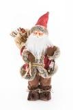 Винтажная кукла Санта Клауса с сумкой настоящих моментов Стоковое Изображение