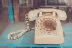 Винтажная линия приемник телефона стоковое фото rf
