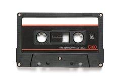 Винтажная магнитофонная кассета на белизне Стоковые Фотографии RF