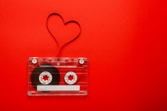 Винтажная магнитофонная кассета Стоковая Фотография