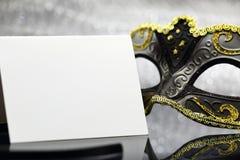 Винтажная маска масленицы Стоковая Фотография