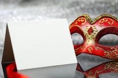Винтажная маска масленицы Стоковые Фото