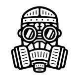 Винтажная маска противогаза иллюстрация штока