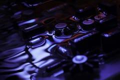 Винтажная монтажная плата с голубым и красным отражением Стоковая Фотография RF