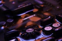 Винтажная монтажная плата с красным и голубым отражением Стоковые Изображения RF