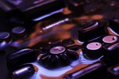 Винтажная монтажная плата с красным и голубым отражением Стоковое Изображение RF