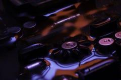 Винтажная монтажная плата с красным и голубым отражением Стоковое Изображение