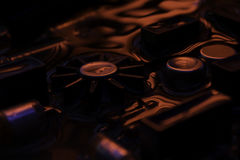 Винтажная монтажная плата с отражением темноты - красным и голубым Стоковое Изображение RF