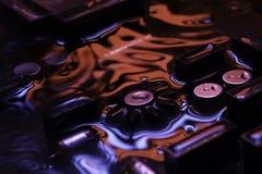 Винтажная монтажная плата с отражением темноты - красным и голубым Стоковые Изображения RF