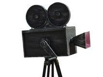 Винтажная модель черноты киносъемочного аппарата изолированная на белизне Стоковое Изображение
