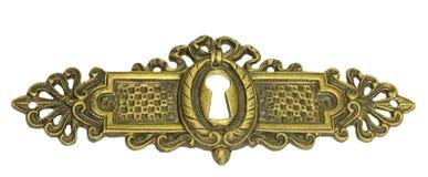 Винтажная нажимная накладка замка Стоковое Изображение