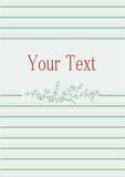 Винтажная нежная поздравительная открытка стоковое изображение
