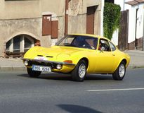 Винтажная немецкая спортивная машина, Opel GT Стоковые Изображения RF