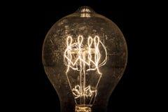 Винтажная нить электрической лампочки стоковая фотография rf