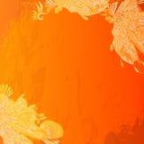 Винтажная оранжевая предпосылка Стоковая Фотография