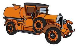 Винтажная оранжевая тележка танка Стоковое Изображение