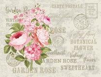 Винтажная открытка Стоковое Изображение