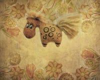 Винтажная лошадь игрушки Стоковое Изображение