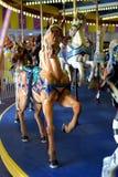 Винтажная лошадь carousel Стоковое Изображение RF