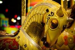 Винтажная лошадь carousel Стоковые Фотографии RF