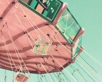 Винтажная пастельная езда качания стоковая фотография rf