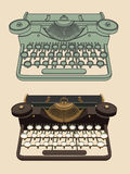 Винтажная печатая машина иллюстрация вектора