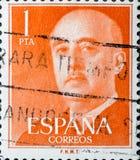 Винтажная печать показывает Франсиско Франко стоковое изображение rf
