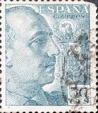 Винтажная печать показывает Франсиско Франко стоковое изображение