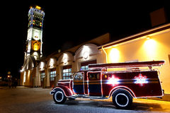 Винтажная пожарная машина Стоковое Изображение