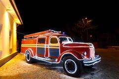 Винтажная пожарная машина стоковое изображение rf