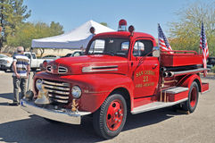 Винтажная пожарная машина Стоковые Фото