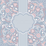 Винтажная поздравительная открытка орнамента Стоковое Изображение