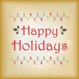 Винтажная поздравительная открытка праздника стиля Стоковые Фото