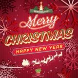 Винтажная поздравительная открытка рождества Стоковое Изображение RF