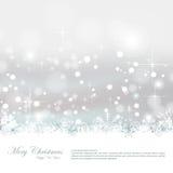 Винтажная поздравительная открытка рождества Стоковая Фотография
