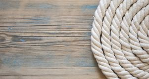 Винтажная предпосылка с старой веревочкой на деревянных планках Стоковое фото RF