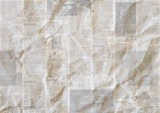 Винтажная предпосылка текстуры бумаги газеты grunge стоковая фотография