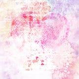 Винтажная предпосылка акварели. Розовая текстура. Стоковое Изображение