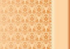 Винтажная предпосылка, антиквариат, флористическая роскошная орнаментальная картина Стоковое Изображение