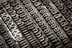 Винтажная предпосылка алфавита и номера letterpress Стоковые Изображения