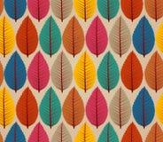 Винтажная предпосылка картины листьев осени безшовная. Стоковые Фото