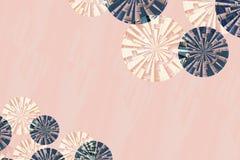 Винтажная предпосылка картины круга стиля Бесплатная Иллюстрация